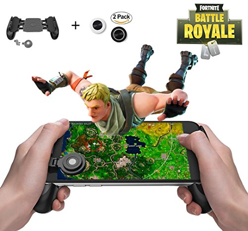 Mobile Game Controller and Gamepad, Sensitive Shoot and Aim Trigger Fire Button, Gamepad for Fortnite/PUGB / Rules of Survival, Mobile Gaming Joysticks for Android IOS by Fitoplay