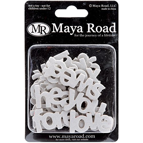 Maya Road Word Chipboard 30/Pkg-Mini Love 10 Styles .8