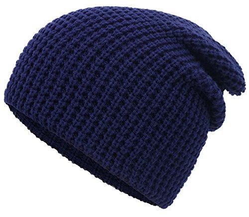 (KEA KEA Mens Slouchy Beanie Soft Knit Daily Beanie Solid Color Skull Cap,Navy)