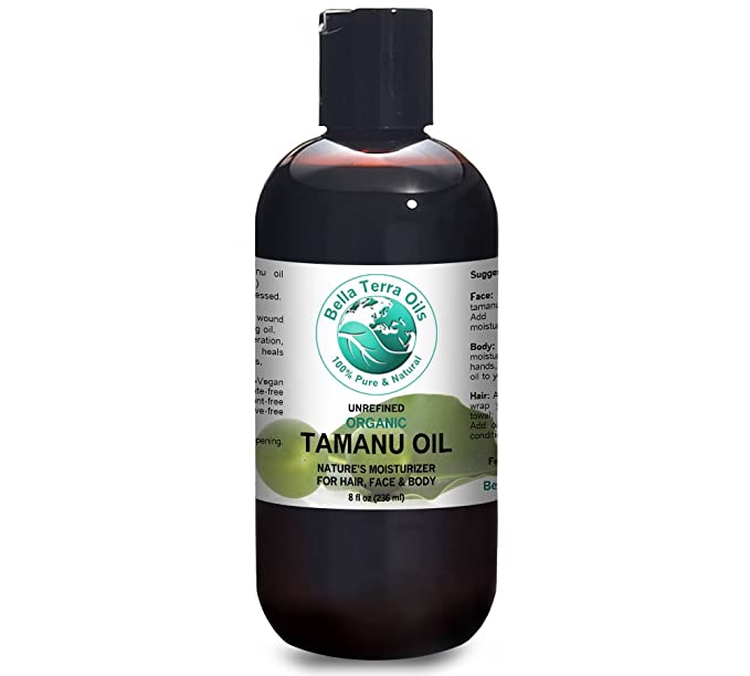 Tamanu Oil 8 oz 100% Pure Foraha Cold-pressed Unrefined Organic - Bella Terra Oils