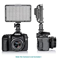 Digital SLR Camera Lighting - Bemaxy 176 Ultra Thin Dimmable Camera Photo/Studio Video LED Light Camcorder Lamp Panel with Color Filters for Nikon, Canon, Panasonic, Tripod and Other DSLR Camera by Bemaxy
