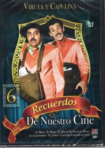 Viruta Y Capulina Recuerdos De Nuestro Cine 6 Peliculas (El Naco, El Nano, El Dolor De Pagar La Renta, Los Legionarios, El Carita, Capulina Corazon De Melon)region 1&4