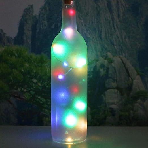 HUIDE Lámparas de Botella con Corcho,Botellas de LED con Alambre ...