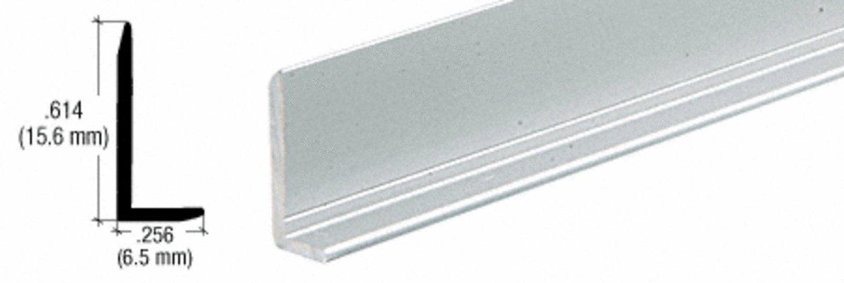 CRL Satin Anodized 1/4'' Aluminum L-Bar Extrusion - 12 ft Long