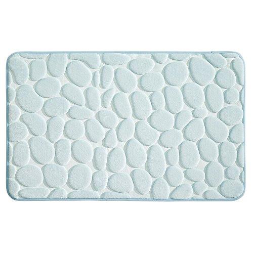 "InterDesign Bathroom 34"" x 21"" Memory Foam Pebble Mat - Water from InterDesign"