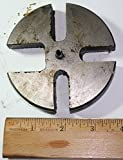 "3-3/4"" SLOTTED WHEEL PLATE 1/2"" THICK TOOL PART FOR ARBOR PRESS"