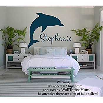 Perfect Wall Decals Personalized Name Decal Vinyl Sticker Girl Nursery Room  Dolphins Decor Home Bedroom Interior Design
