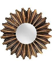 Kole Antiqued Bronze Sunburst Wall Mirror