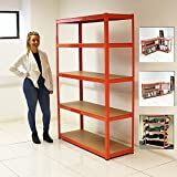ELEPHANT 120CM EXTRA WIDE HEAVY DUTY 5 TIER SHELF SHELVING UNITS GARAGE STORAGE RACKING SHED OFFICE
