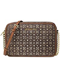 Michael Kors Womens Faux Leather Crossbody East West Handbag
