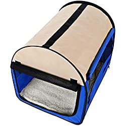 Kaluo 32inch Oxford Blue Portable Folding Soft Pet Dog Carrier Cage Home Crate Case