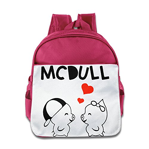 (XJBD Custom Personalized McDull Love Children School Backpack For 1-6 Years Old Pink )