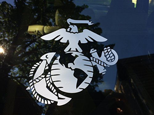 Marine Corps - Eagle Globe & Anchor White Usmc Car Decal Window Stickers (Anchor Car Window Decal compare prices)