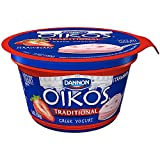 Oikos Strawberry Traditional Greek Yogurt, 5.3 Ounce -- 12 per case.