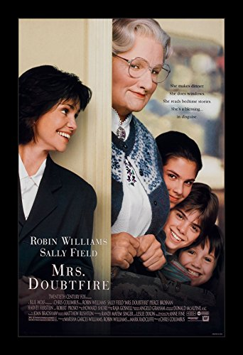 Mrs. Doubtfire - 11x17 Framed Movie Poster by Wallspace