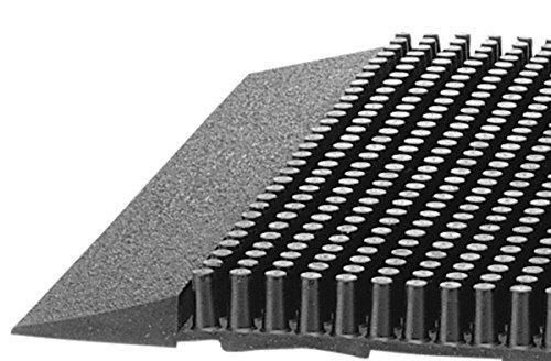 American Floor Mats Pronged Rubber Black 3' x 5' Heavy Duty 1/2 inch Thickness Scraper Mat