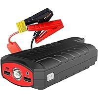 YAOQI Motor de arranque portátil 600 A GT1500 com USB Quick Charge 3.0 (até 8,0 L a gás, motor diesel 6,0 L), pacote de…