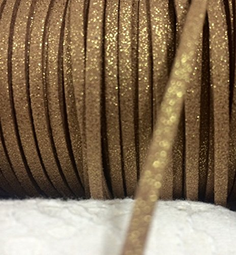 Metallic Gold Faux Suede Leather Cord, Leather String Cord, DIY Cord Supplies, Faux Suede Lace, Vegan Suede Cord, bracelet cord 3mm Price Per 12 Yards