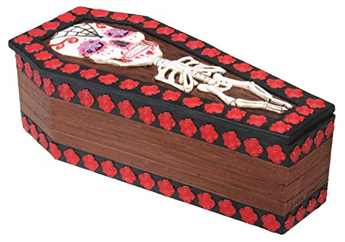 Day of The Dead Coffin Box Display Decoration