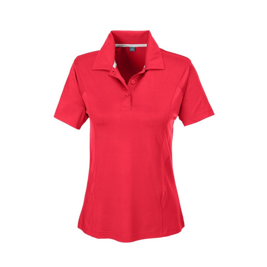 Ash City Apparel Team 365 Ladies Charger Performance Polo (X-Small, Sport Red)