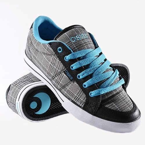 Osiris Skateboard Shoes --Barron- Black/Cyan