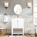 Harper&Bright Designs Bathroom Vanity with Ceramic Sink Top 24'' Single Sink (White)