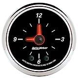Auto Meter 1285 Designer Black II 2'' Analog Illuminated Clock Gauge
