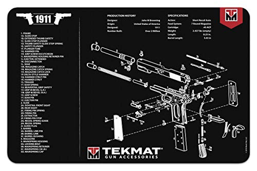(TekMat Gun Cleaning Mat for use with 1911 - Black)