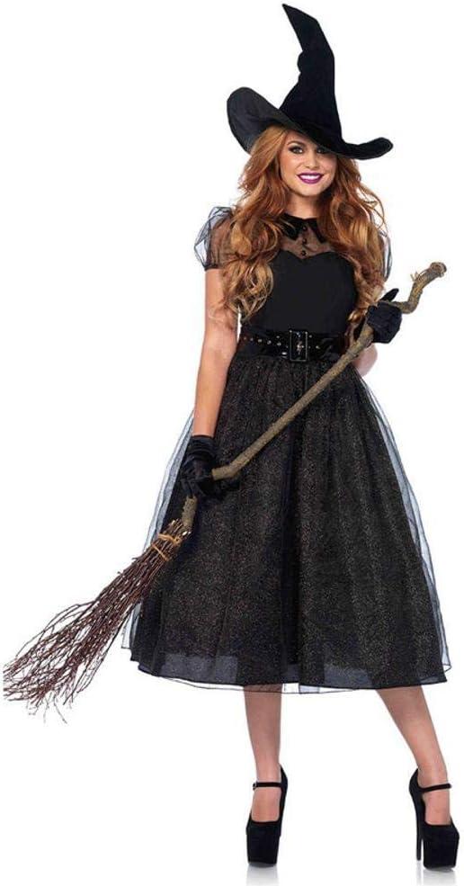 Yunfeng Halloween Bruja Disfraz para Mujer Cosplay Adultos Mujer ...
