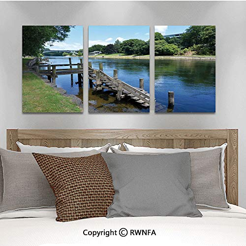 3Pc Creative Wall Stickers Waikato River Hamilton City New Zealand Holiday Destination Travel Landmark Bedroom Kids Room Nursery Dinning Wall Decals Removable Art Murals,19.7