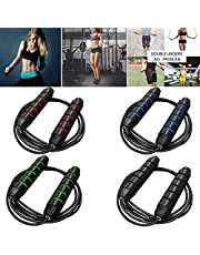 Jump Rope Workout for Kids and Adults - Fast Bearings, Foam Comfort Handles - Speed Rope Skipping Rope for Crossfit Training, Boxing, MMA Workouts and More