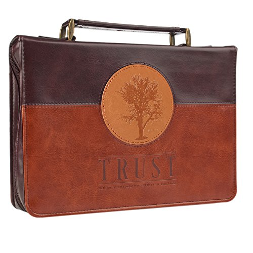 """""""Trust"""" Three-tone Bible / Book Cover - Jeremiah 17:7-8 (Medium) from Christian Art Gifts"""