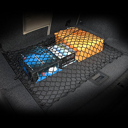 AndyGo Floor/Envelope Style Car Trunk Cargo Net Fit For Jeep Liberty Patriot Wrangler Commander Compass Grand Cherokee Renegade - Suzuki Grand Vitara Jeep