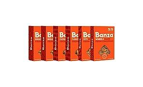 Banza Chickpea Pasta – High Protein Gluten Free Healthy Pasta – Variety Case (Rigatoni/Cavatappi/Ziti/Wheels) (Pack of 6)