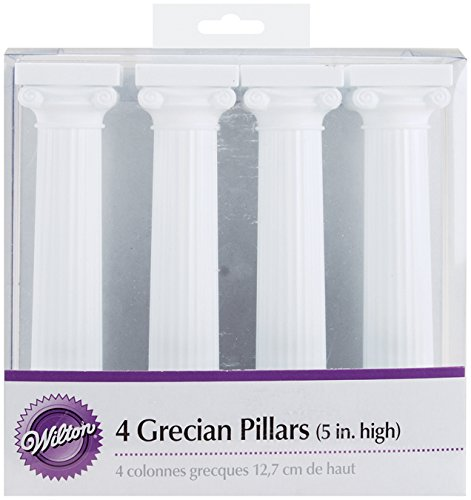 Wilton 303-3703 4-Pack Grecian Pillars for Cakes, 5-Inch ()