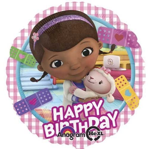 Doc McStuffins 3rd Birthday Party Supplies and Balloon Bouquet Decprations
