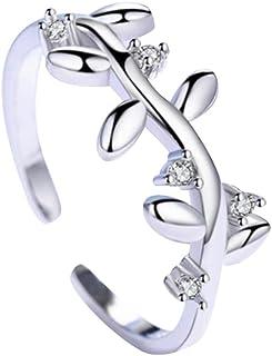 Monbedos - Anello a Ramo Aperto per Matrimonio, per Ragazze, Regalo di Compleanno