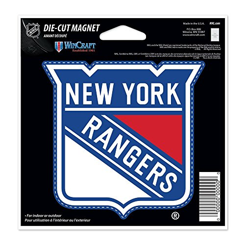 New York Rangers Official NHL 4.5 inch x 6 inch Car Magnet by Wincraft