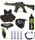 US Army Alpha Black Tactical Paintball Marker Gun 3Skull Infantry Set