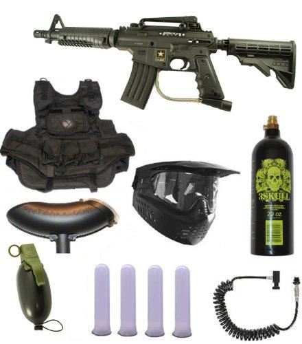 US Army Alpha Black Tactical Paintball Marker Gun 3Skull Infantry Set by 3Skull