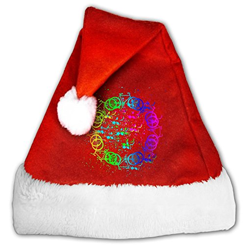 Shapyy Cycling Gay Pride2 Christmas Santa Claus Plush Hat S