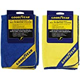 """Goodyear Microfiber Wash And Dry All Purpose Cloths 16"""" x 16"""", Blue, Pack of 2"""