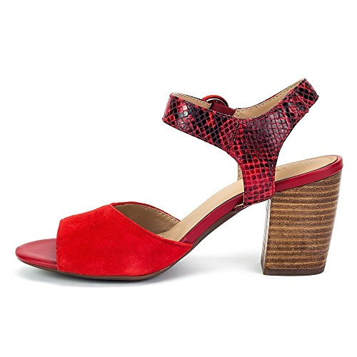 Geox Fashion Women's Red Sandals Red O1OrqnvB