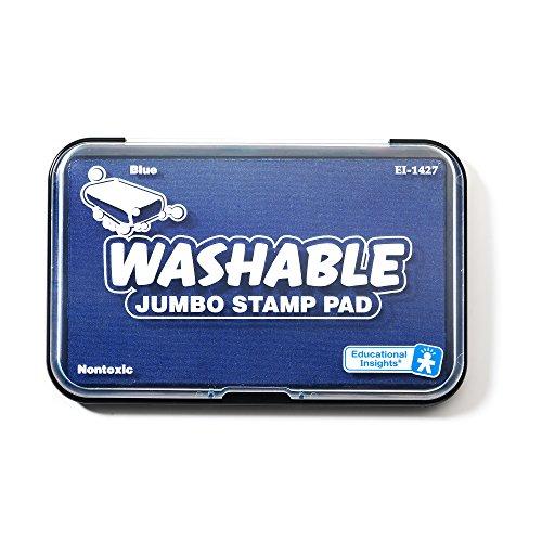Educational Insights 1427 Jumbo Washable Stamp Pad- Blue