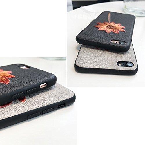 Phone Case & Hülle Für iPhone 6 Plus & 6s Plus Retro Mode Stickerei Blume Pflanze Muster Schutzmaßnahmen zurück Fall ( Size : Ip6p3526h )