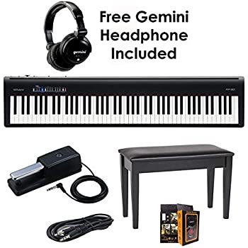 roland fp 30 bk 88 key digital piano package bundle with roland dp 10 damper pedal. Black Bedroom Furniture Sets. Home Design Ideas
