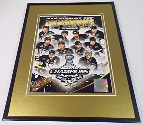 2009 Pittsburgh Penguins Stanley Cup Champs Team Framed 11x14 Photo Display