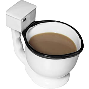 62180caf797 Amazon.com: Toilet Bowl Mug For Coffee, Tea, Beverages And More - 14 ...