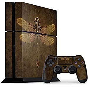Skinit Decal Gaming Skin for PS4 Console and Controller Bundle – Officially Licensed Tate and Co. Steampunk & Gear Dragonfly Design