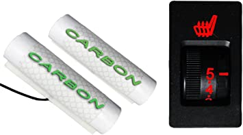 Sitzheizung Auto Carbon Universal Nachrüstsatz Heizmatten 2 Stufen Kfz Pkw AN